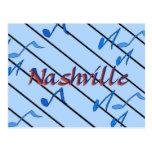 Nashville Notes Blue Postcards