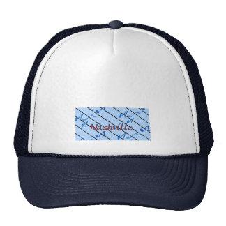 Nashville Notes Blue Trucker Hat