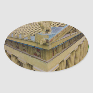 Nashville Parthenon Oval Sticker