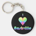 Nashville -- Pastels Key Chain