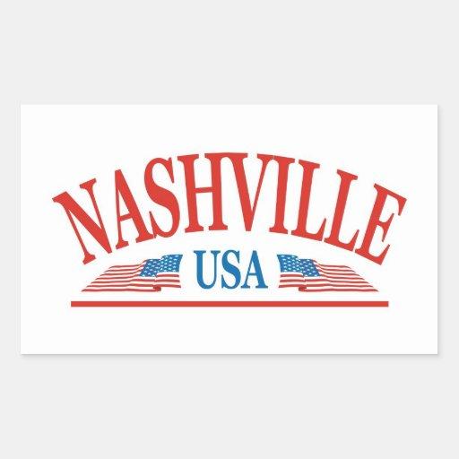 Nashville Pegatina Rectangular