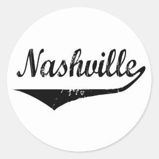 Nashville Pegatina Redonda