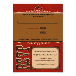 "Nashville Response Card:  Cherry 4.5"" X 6.25"" Invitation Card"