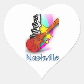 Nashville Rhythm Heart Sticker