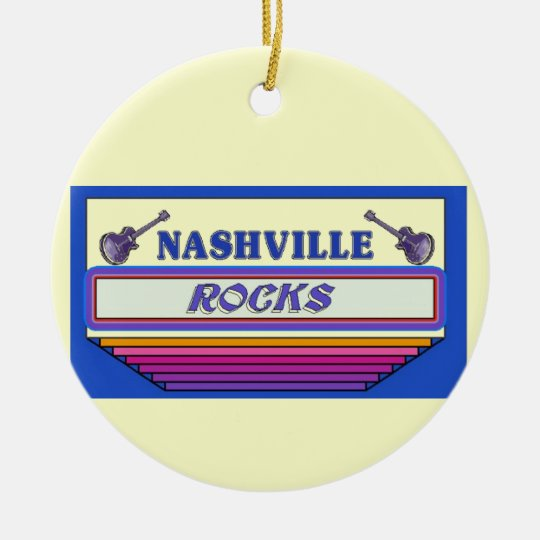 Nashville Rocks 2 Ceramic Ornament