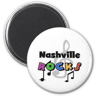 Nashville Rocks 2 Inch Round Magnet