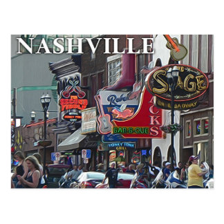 Nashville Scene _ Postcard