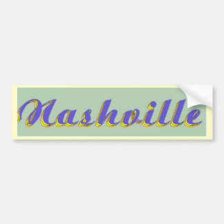 Nashville Script Bumper Sticker