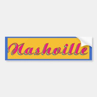 Nashville Script Car Bumper Sticker