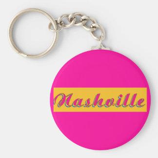Nashville Script Keychain