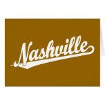 Nashville script logo in white card
