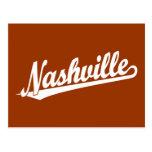 Nashville script logo in white post cards