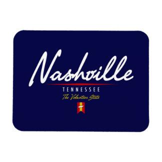 Nashville Script Rectangular Photo Magnet