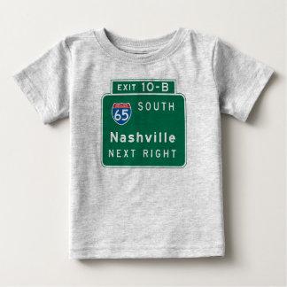 Nashville, señal de tráfico del TN Playera De Bebé