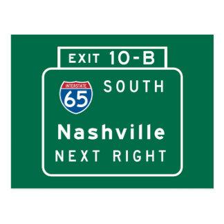 Nashville, señal de tráfico del TN Postal