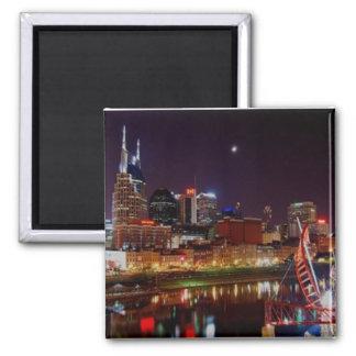 Nashville Skyline 2 Inch Square Magnet