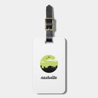 Nashville skyline   Nashville, Tennessee Bag Tag