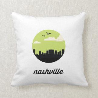 Nashville skyline   Nashville, Tennessee Throw Pillow