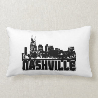 Nashville Skyline Throw Pillows