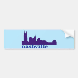 Nashville Skyline Purple Car Bumper Sticker