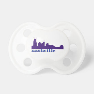 Nashville Skyline Purple Pacifier