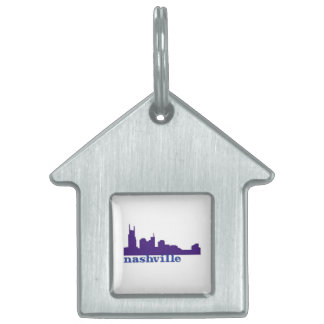 Nashville Skyline Purple Pet ID Tag
