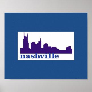 Nashville Skyline Purple Poster