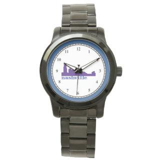 Nashville Skyline Purple Wrist Watch