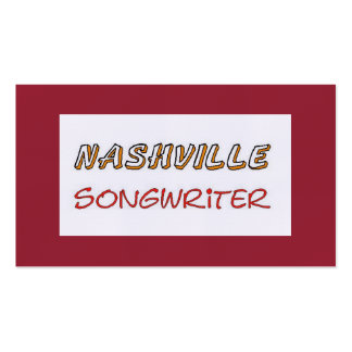 Nashville Songwriter Double-Sided Standard Business Cards (Pack Of 100)