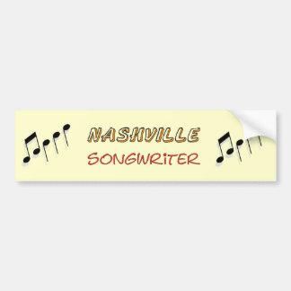Nashville Songwriter Car Bumper Sticker