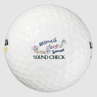 Nashville Sound Check Pack Of Golf Balls