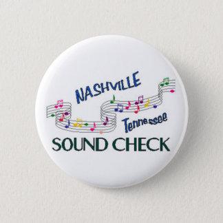 Nashville Sound Check Pinback Button