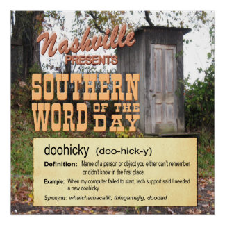 Nashville Southern Word Doohicky Poster