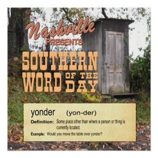 Nashville Southern Word Yonder Poster
