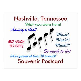 Nashville Souvenir Postcard