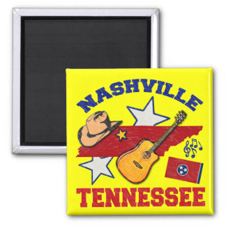 Nashville, Tennessee 2 Inch Square Magnet