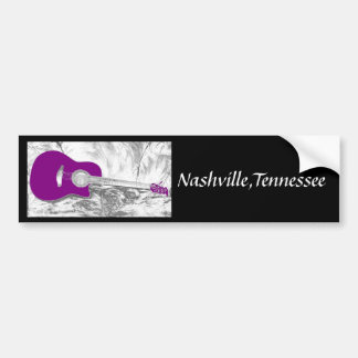 Nashville,Tennessee Bumper Sticker Car Bumper Sticker
