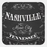 Nashville, Tennessee - ciudad de la música Pegatina Cuadrada