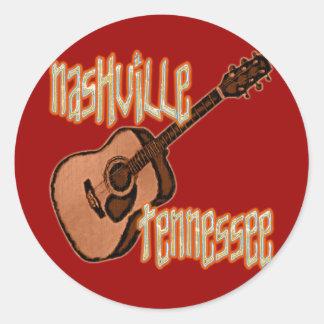 NASHVILLE TENNESSEE CLASSIC ROUND STICKER