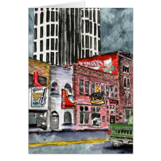 nashville tennessee country music capital art cards