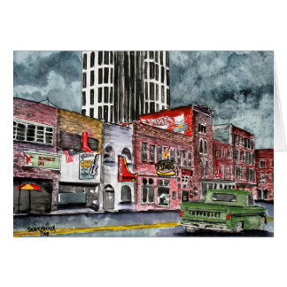 nashville tennessee country music capital art greeting cards