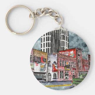 nashville tennessee country music capital art keychain