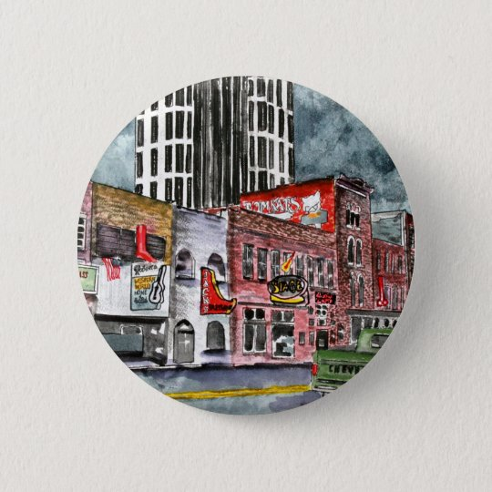 nashville tennessee country music capital art pinback button