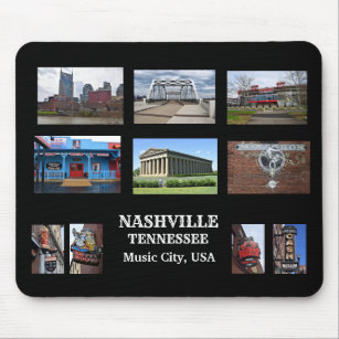 Nashville, Tennessee Country Music Capital Mouse Pad