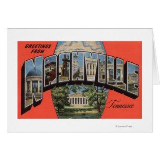 Nashville, Tennessee - escenas grandes 2 de la let Tarjeta De Felicitación