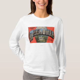 Nashville, Tennessee - Large Letter Scenes 2 T-Shirt