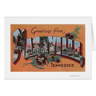 Nashville, Tennessee - Large Letter Scenes Card