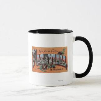 Nashville, Tennessee - Large Letter Scenes Mug