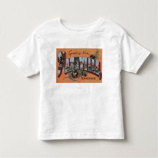 Nashville, Tennessee - Large Letter Scenes Toddler T-shirt
