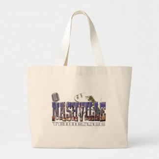Nashville Tennessee Large Tote Bag